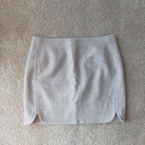 J Crew Shirttail Wool Mini Skirt Sz. 6